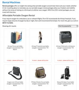 portable oxygen rental