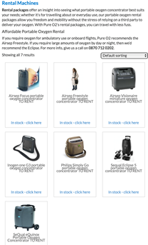 Renting an oxygen concentrator
